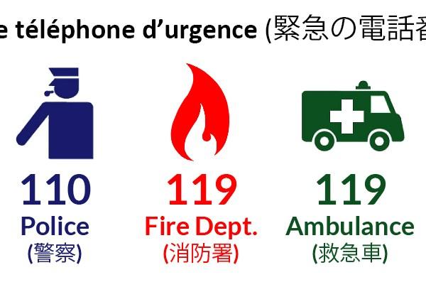 N° d'urgence, Japon