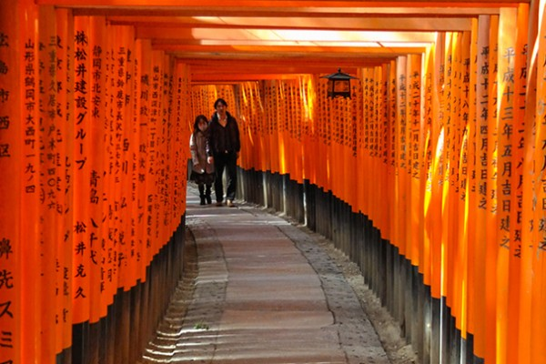 Fushimi-Inari (Kyōto) - Allée de torii