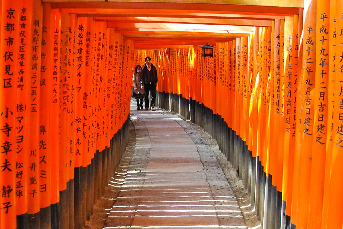 Fushimi-Inari-Taisha (Kyōto) - Promenade sous les torii