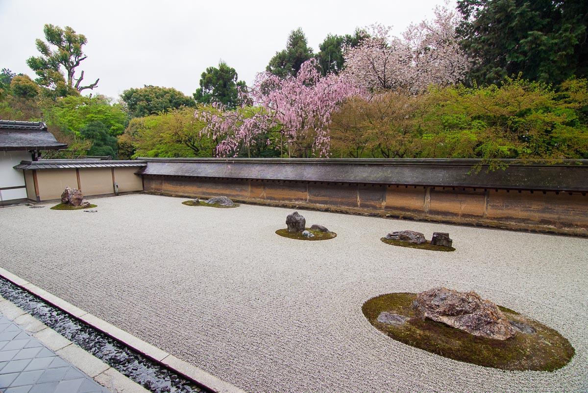 Ryōan-ji (Kyōto) - Jardin de roches zen du temple