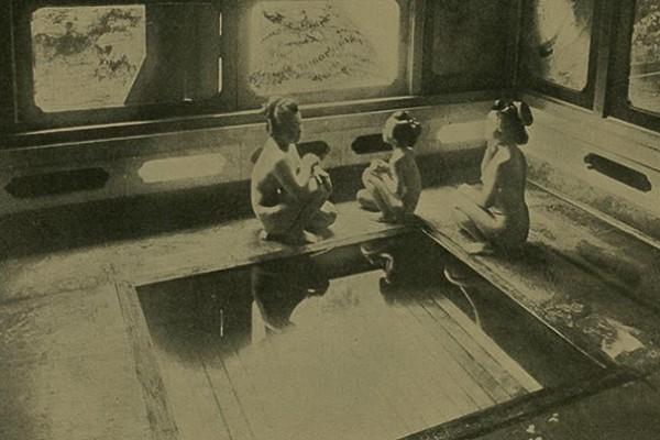 Bain public, femmes japonaises - 19ème siècle