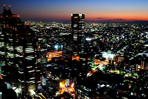 Tokyo, vue sur la ville depuis le Tokyo-Tocho (City Hall)