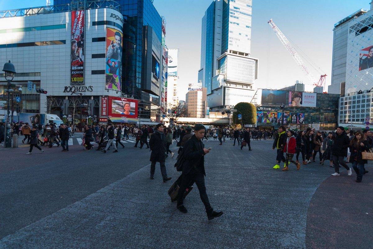 Shibuya ekimae kōsaten, le célèbre carrefour de Tōkyō