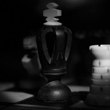 Pièces de jeu d'échecs - Cavalier, Roi et Tour